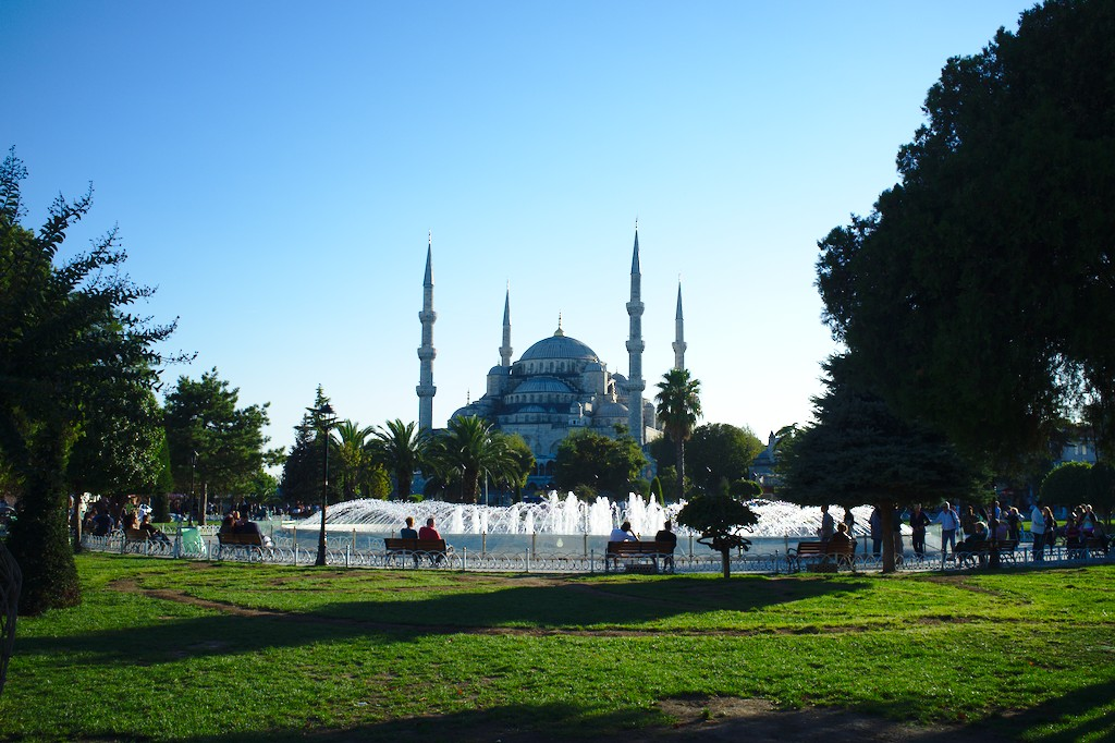 Istanbul: Die Blaue Moschee, eines der weiteren Wahrzeichen Istanbuls