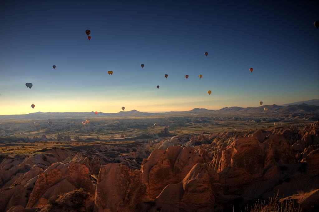 Kappadokien: Highlight hier ist eine Ballonfahrt - ich hab sie mir wegen dem unsicheren Wetter aber für den nächsten Besuch aufgehoben