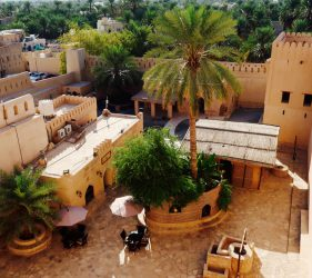 Ein traditioneller Innenhof im Nazwa Fort