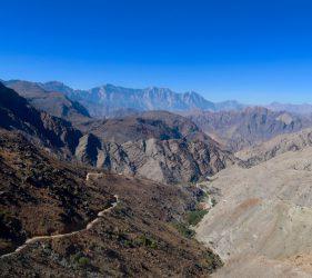 Atemberaubender Ausblick auf die Hajar Berge